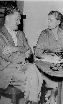 Joyce Lussu e Hikmet a Stoccolma nel 1958