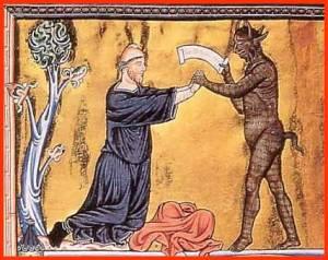 Immagine medievale in cui il diavolo sottrae consensi