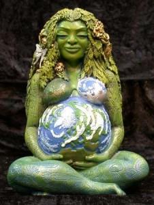 Rappresentazione moderna dell'idea di dea madre antica