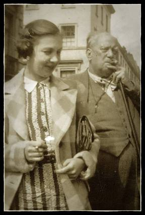 Pearl Brooksmith and Aleister Crowley, August 1933