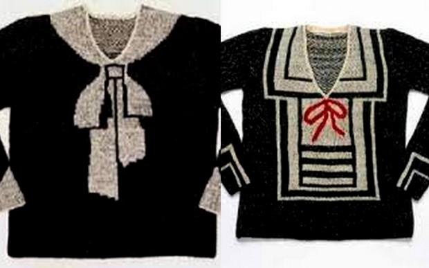 maglione trompe-l'oeil