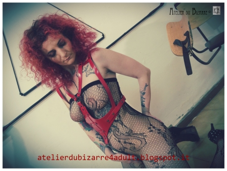 psycho evil red harness