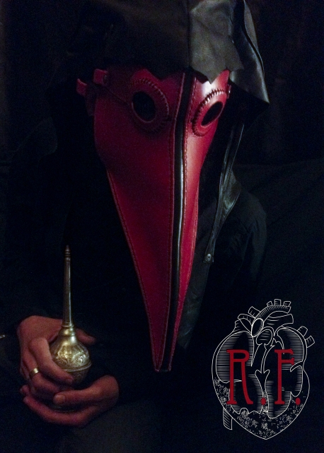 Red Plague Doctor Mask