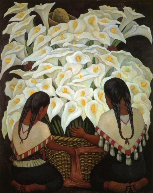 Calla-Lily-Vendor-font-b-Diego-b-font-font-b-Rivera-b-font-painting-reproduction
