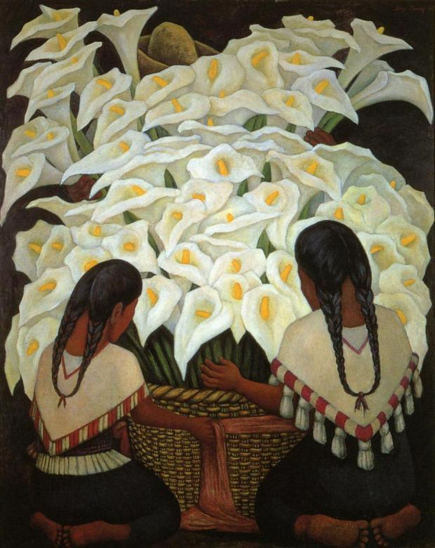 Calla-Lily-Vendor-font-b-Diego-b-font-font-b-Rivera-b-font-painting-reproduction