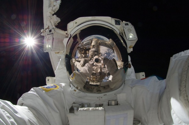 selfie astronauta