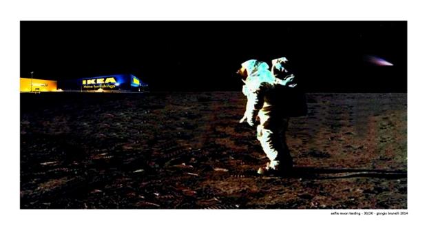 selfie moon landing (60 x 32) 30/30 - giorgio brunelli 2014