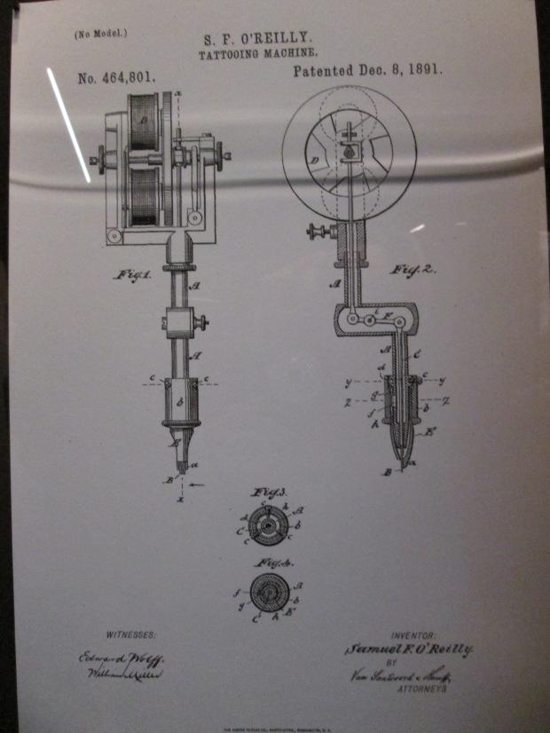 Brevet°464801déposé par Samuel O'Reilly, 1891