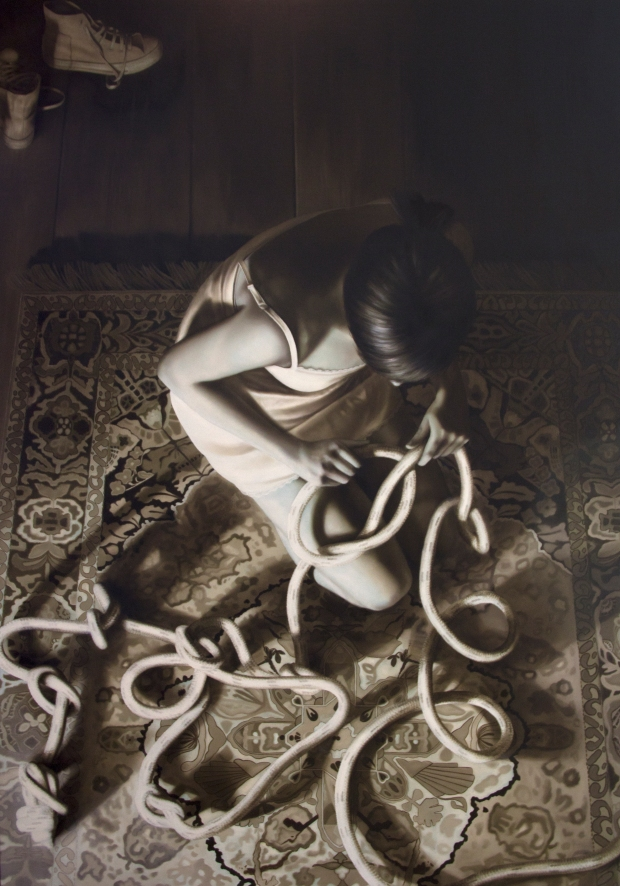 10-sursum corda, olio su tela,140x100, 2014