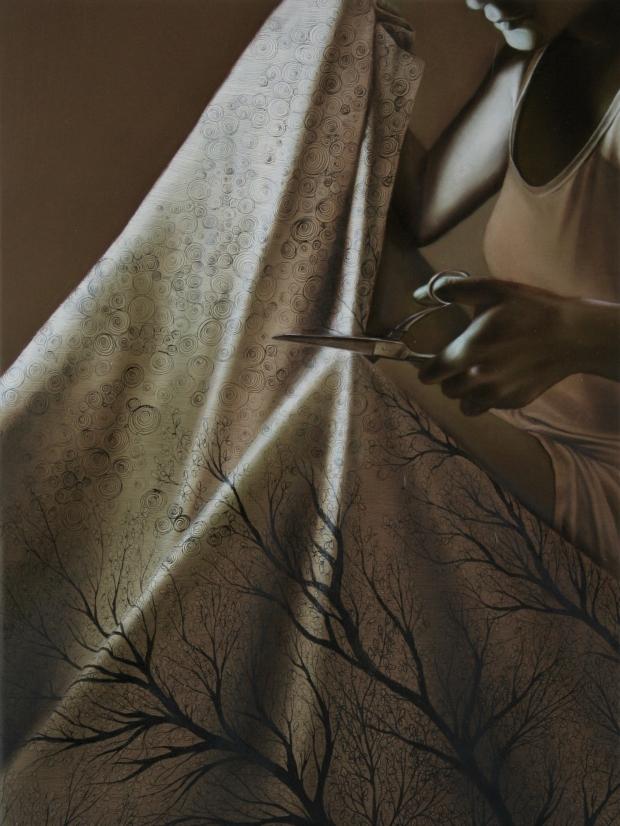 27- Personae12, olio su tela, 40x30, 2014