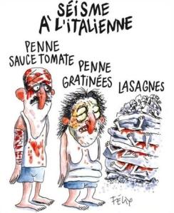Charlie Hebdo, vignetta su terremoto in Italia