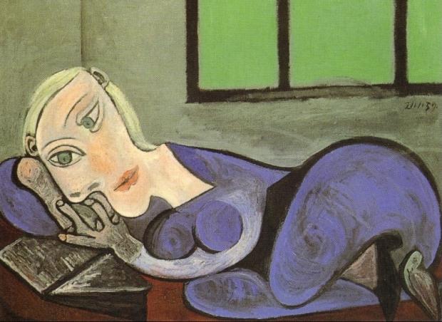Donna-distesa-che-legge-1939
