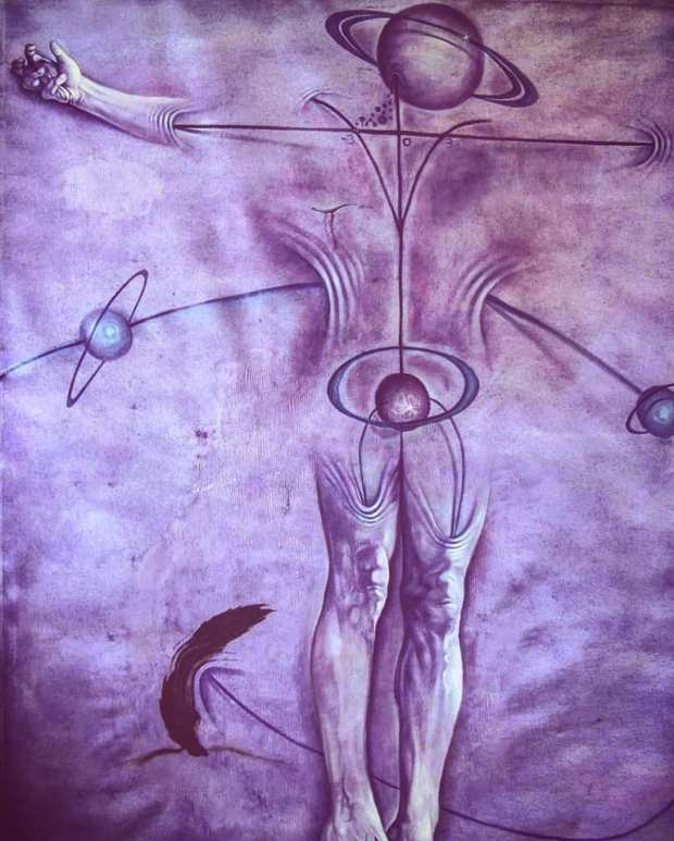 Cristo parabolico-catastrofico. 2014, olio su tela, 180 x 125 cm. Firenze.